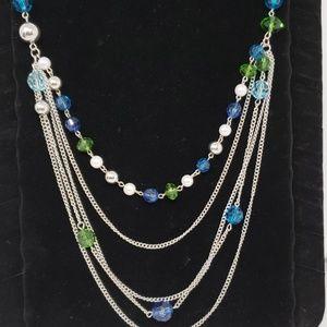 NWOT Blue/Green necklace